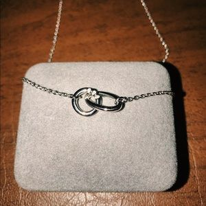 Hot Diamonds Two Rings Necklace
